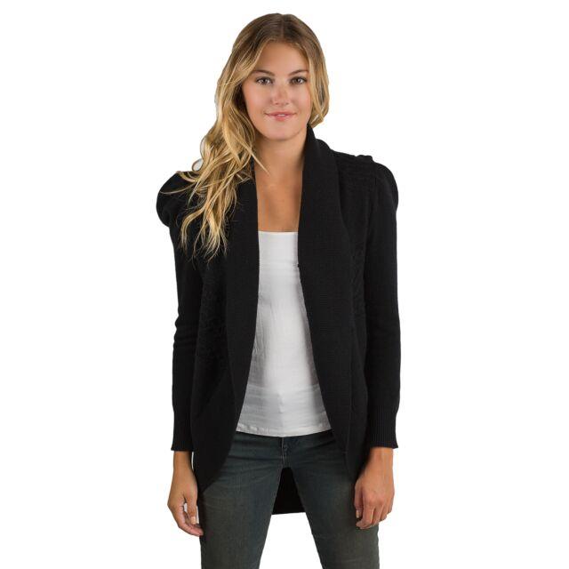 Black Cashmere Celine Cardigan Sweater Front View