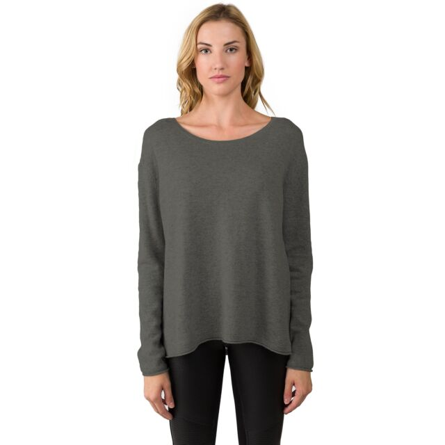 Charcoal Cashmere High Low Sweater