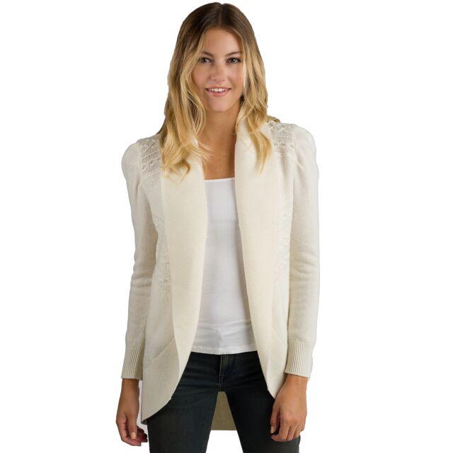Cream Cashmere Celine Cardigan Sweater Front View