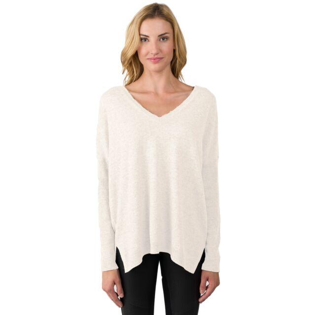 Cream Cashmere Oversized Double V Dolman Sweater