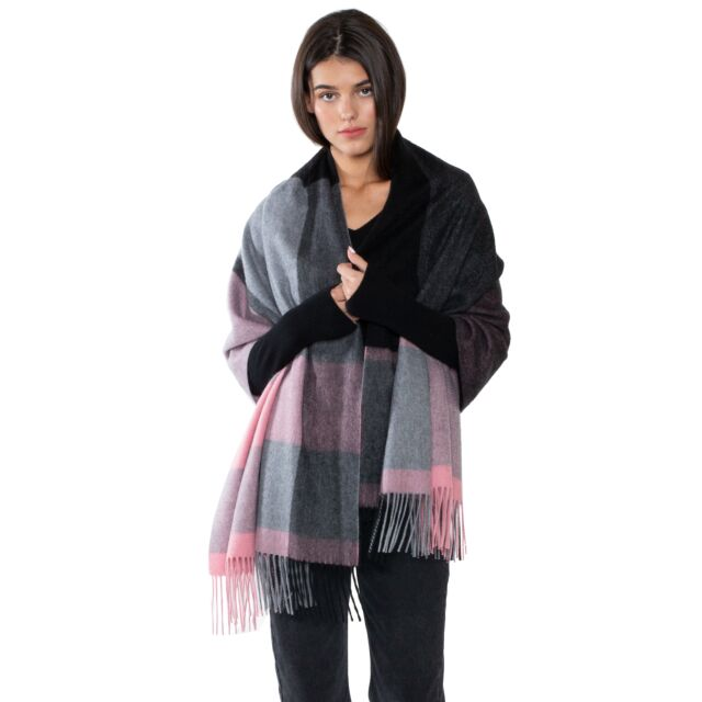 JENNIE LIU Womens 100% Cashmere Shawl Wraps