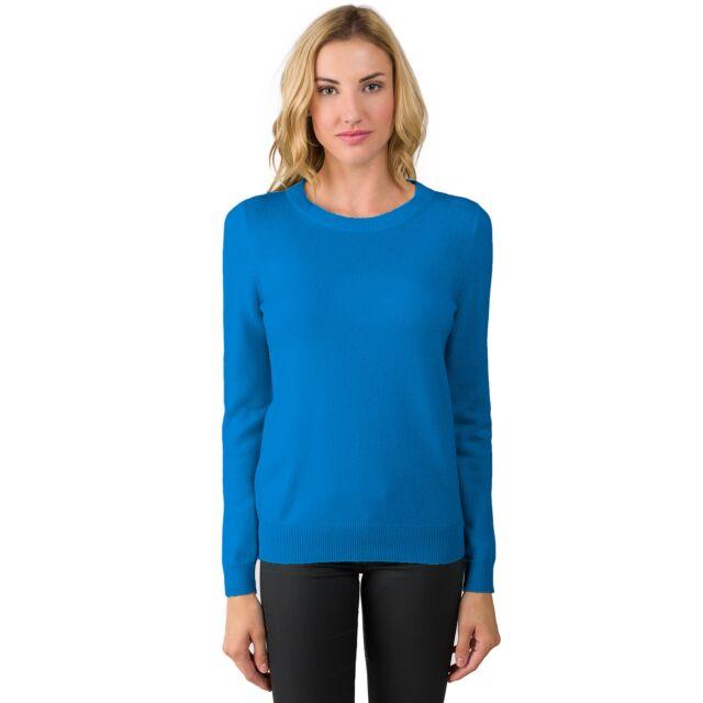 OceanBlue Cashmere Crewneck Sweater Front View