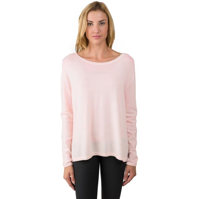 Pink Pearl Cashmere High Low Sweater