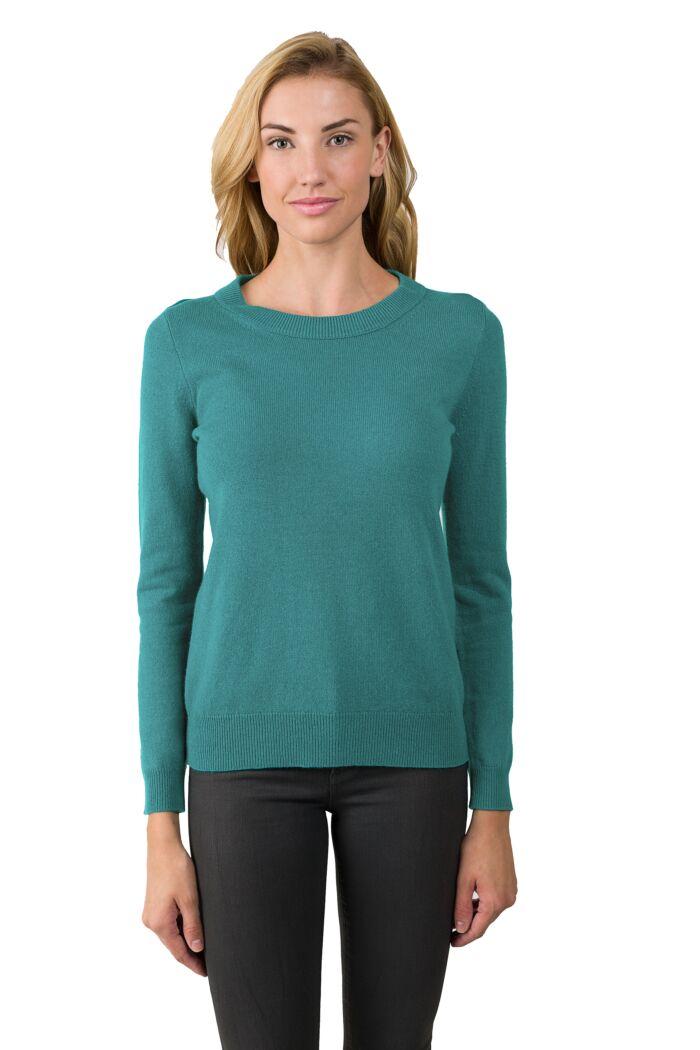 Aquamarine Cashmere Crewneck Sweater