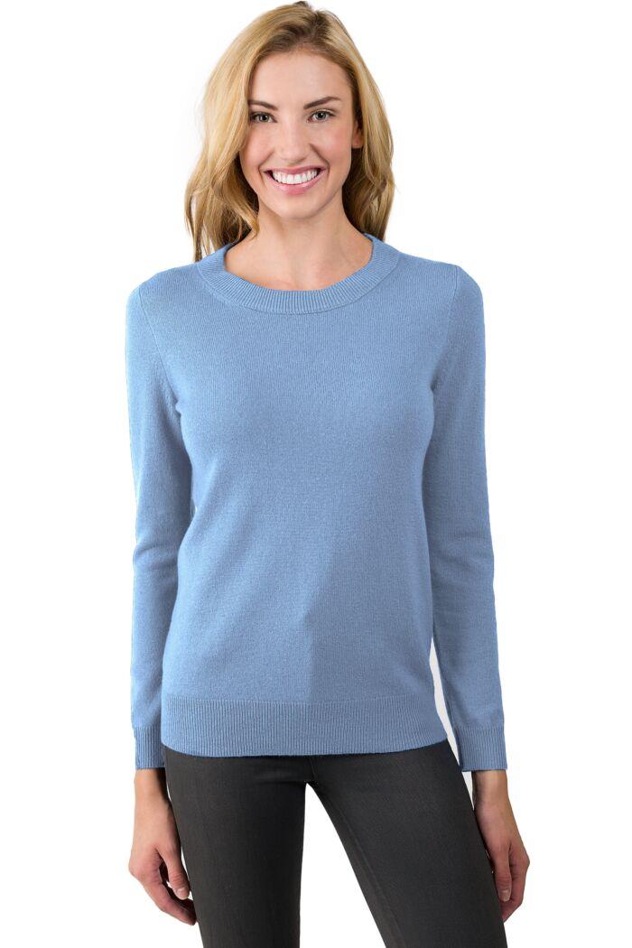 Crystal Blue Cashmere Crewneck Sweater