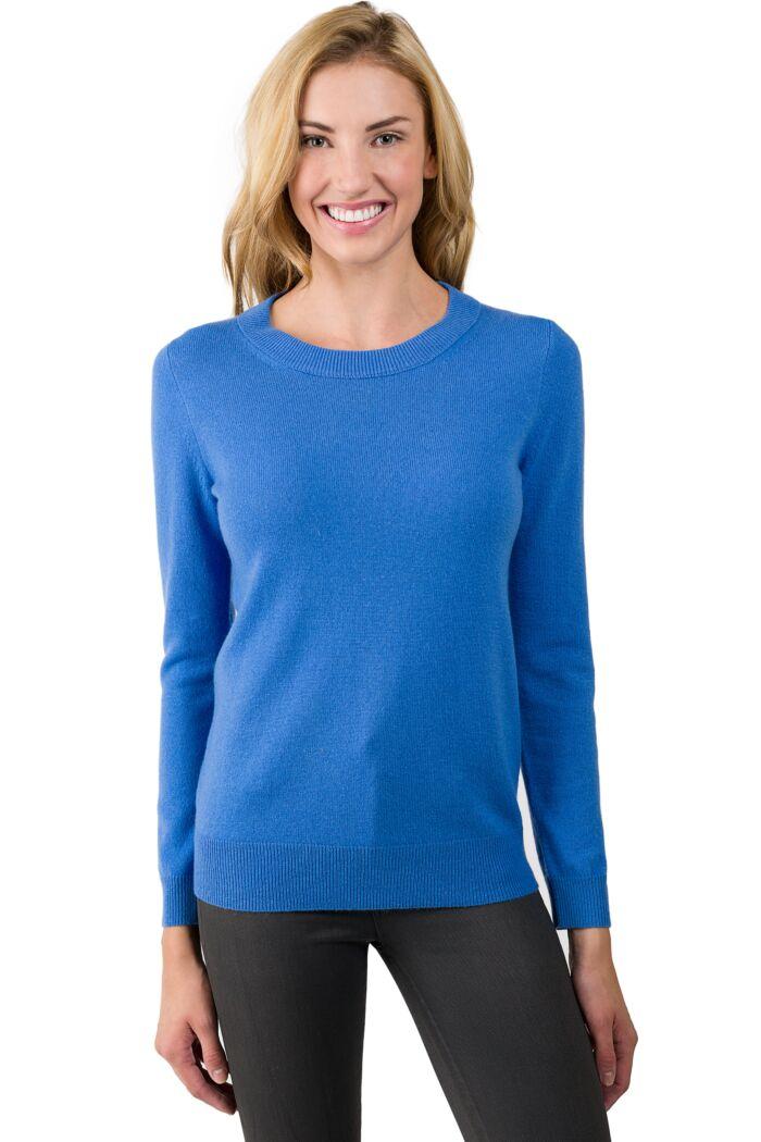Flag Blue Cashmere Crewneck Sweater front view
