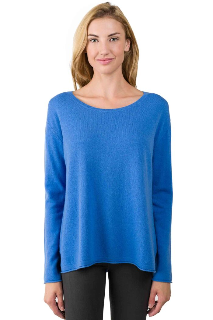 Flag Blue Cashmere High Low Sweater-L