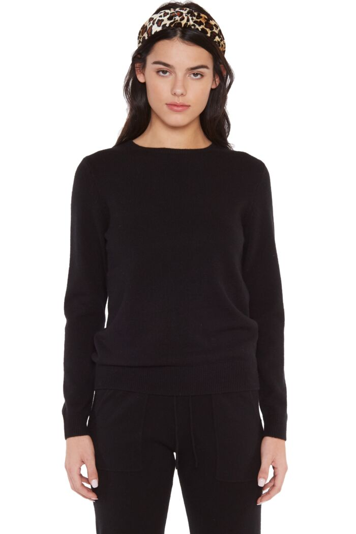 JENNIE LIU 100% 4-PLY CASHMERE SWEATER   WOMENS LONG SLEEVE CREW NECK PULLOVER