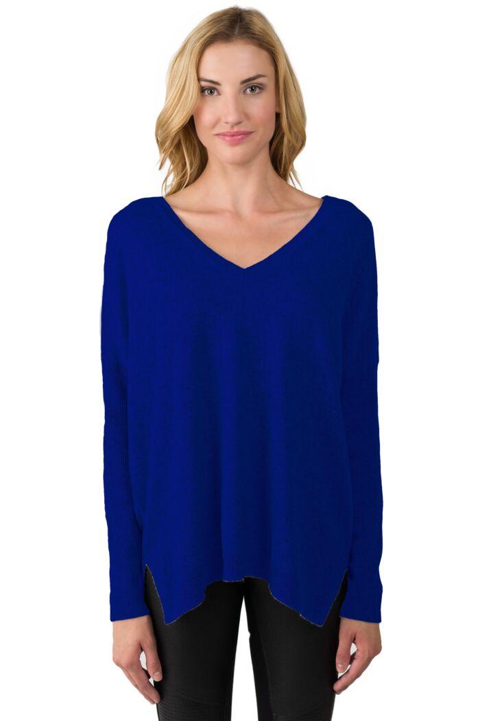 Midnight Cashmere Oversized Double V Dolman Sweater