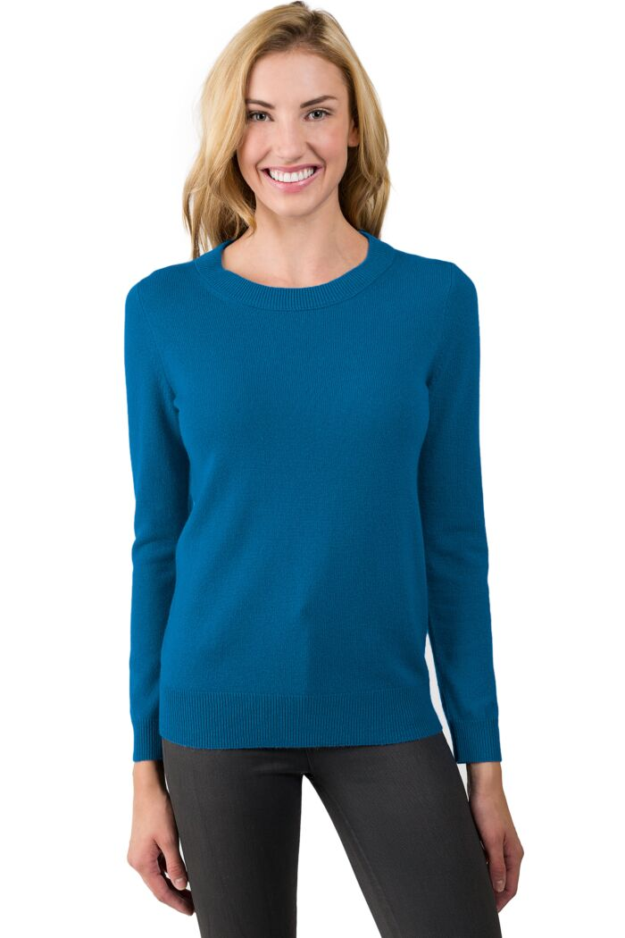 Peacock Cashmere Crewneck Sweater front view