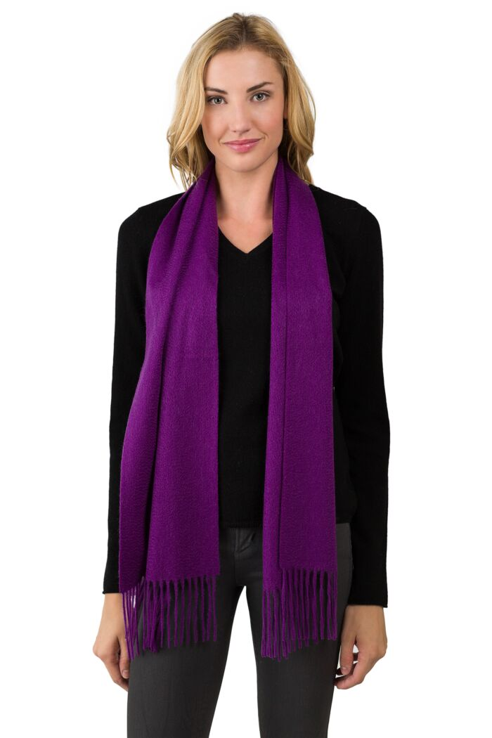 Purple Cashmere Scarf front view