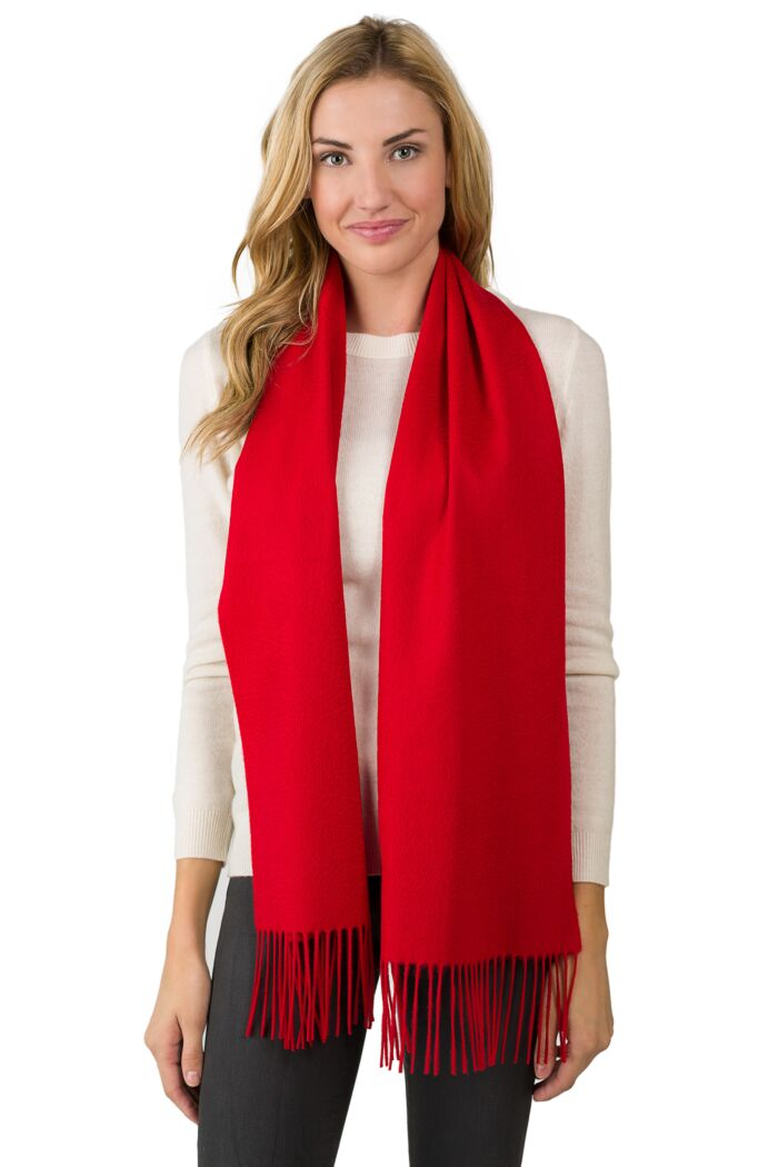 Red Cashmere Scarf front view