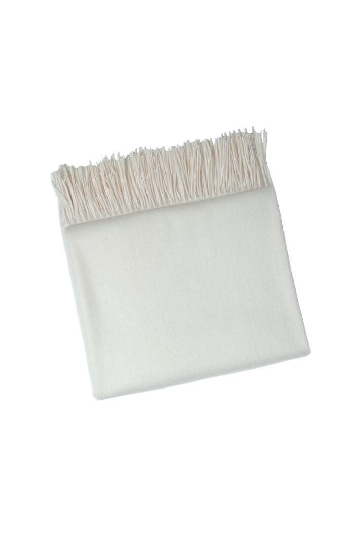 JENNIE LIU 100% Pure Cashmere Throw Blanket-Cream