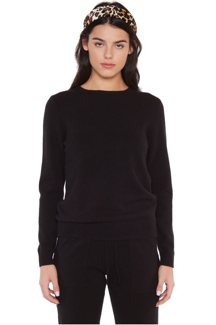 JENNIE LIU 100% 4-PLY CASHMERE SWEATER | WOMENS LONG SLEEVE CREW NECK PULLOVER