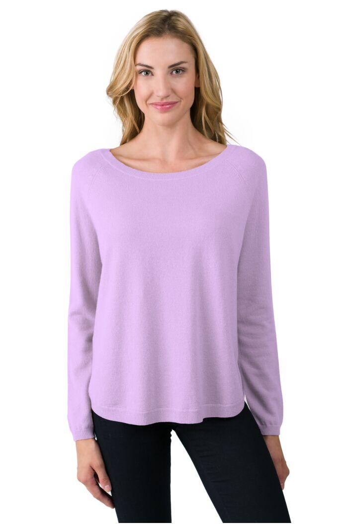 Wisteria Cashmere Boatneck Raglan Sweater
