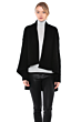JENNIE LIU Women's 100% Pure Cashmere 4-ply Cable-knit Drape-front Open Cardigan Sweater