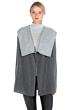 JENNIE LIU Women's 100% Pure Cashmere Long Sleeve 2-tone Double Face Cascade Open Cardigan Sweater